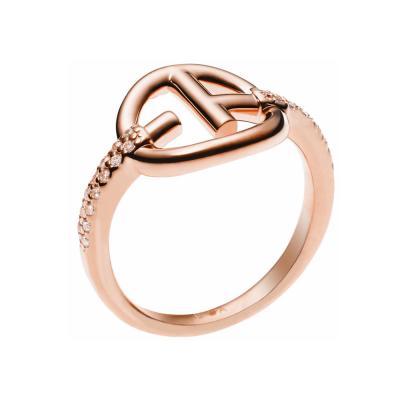 EMPORIO ARMANI Γυναικείο Δαχτυλίδι από Ροζ Επιχρυσωμένο Ατσάλι EG3200221