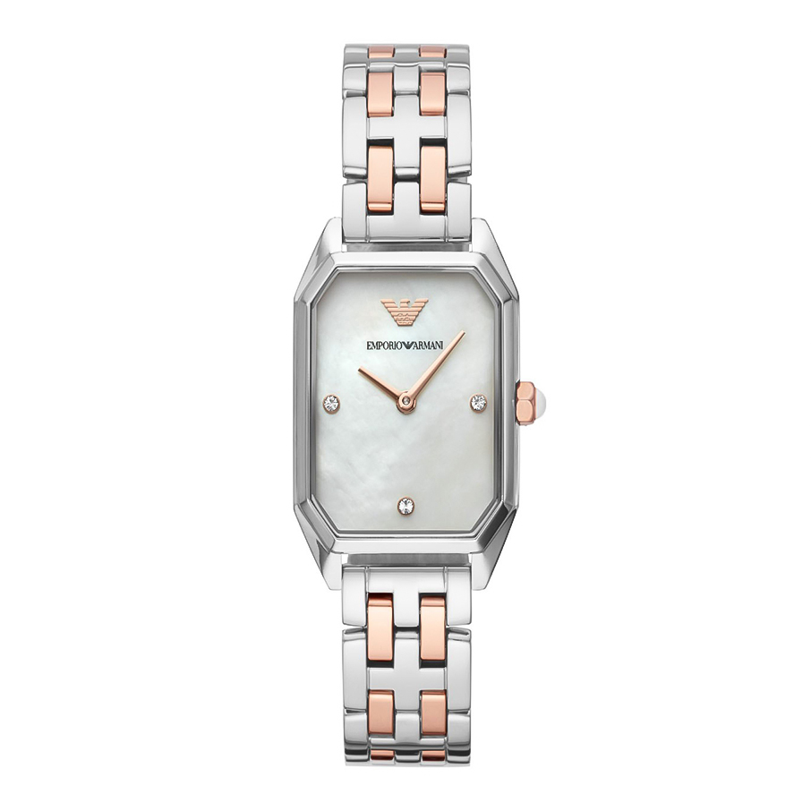EMPORIO ARMANI Crystals Two Tone Stainless Steel Bracelet AR11146