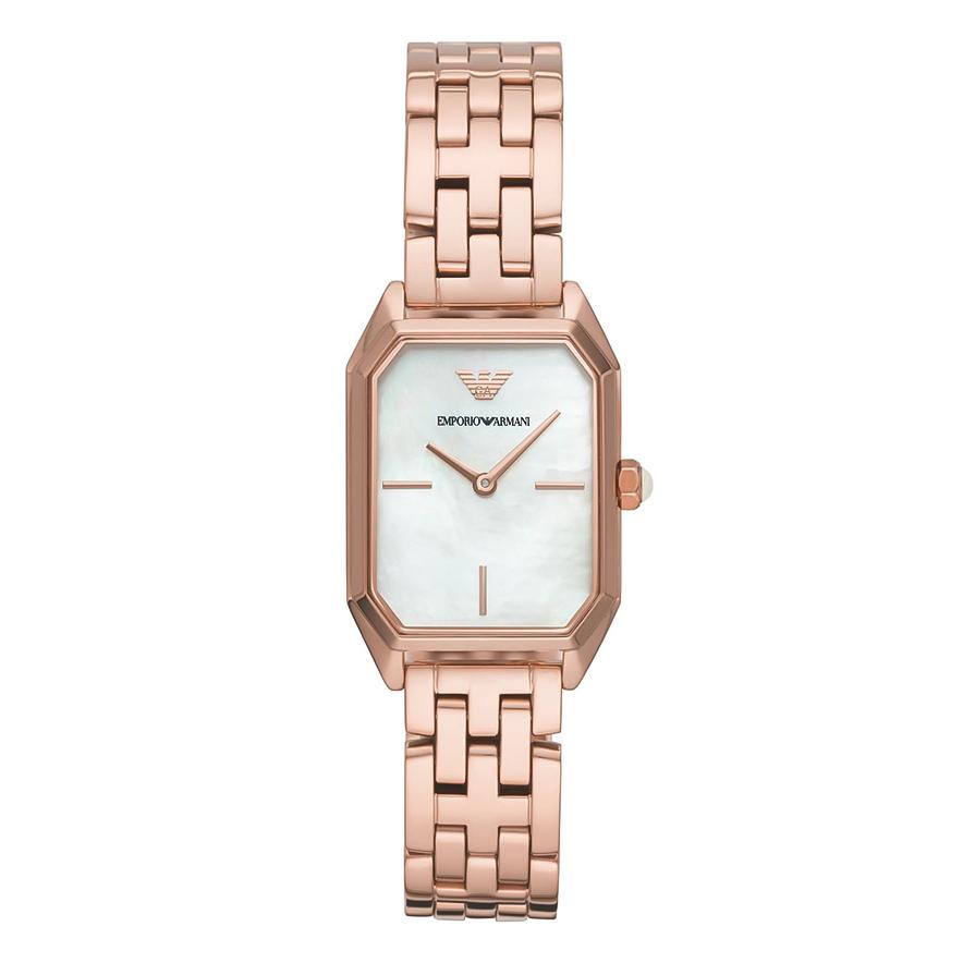 EMPORIO ARMANI Rose Gold Stainless Steel Bracelet AR11147
