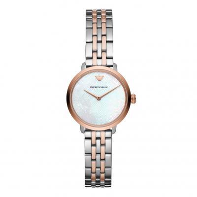 EMPORIO ARMANI Two Tone Stainless Steel Bracelet AR11157