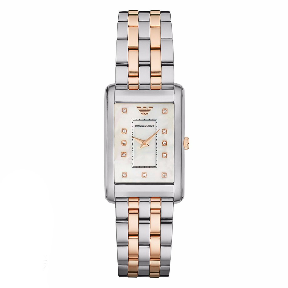 EMPORIO ARMANI Crystals Two Tone Stainless Steel Bracelet AR1905