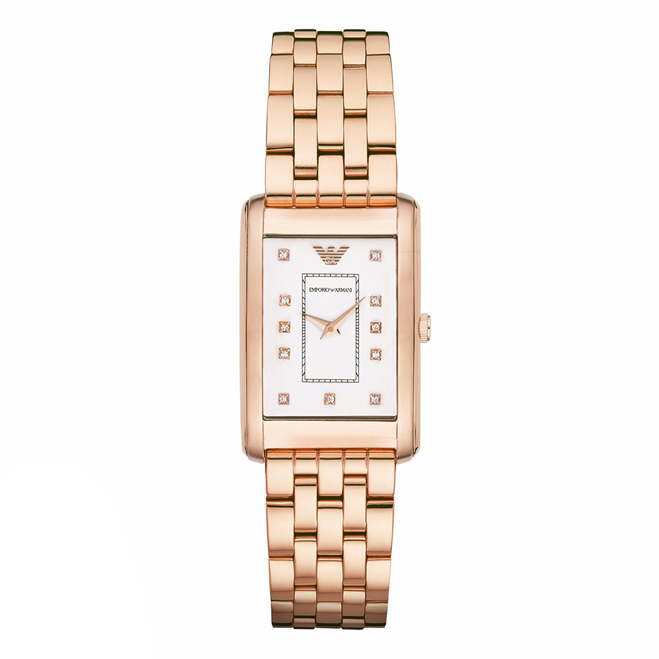 EMPORIO ARMANI Crystals Rose Gold Stainless Steel Bracelet AR1906