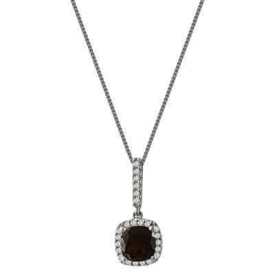 Λευκόχρυσο Μενταγιόν Με Γρανάδα Και Διαμάντια Brilliant Κ18 M35140
