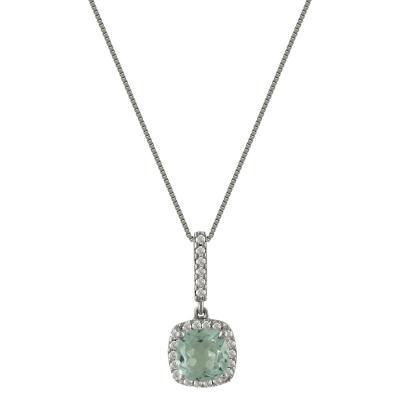 Λευκόχρυσο Μενταγιόν Με Τουρμαλίνη και Διαμάντια Brilliant Κ18 M35138