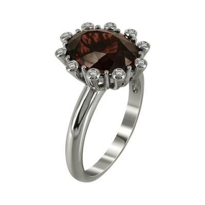 Μονόπετρο Δαχτυλίδι Με Γρανάδα Και Διαμάντια Brilliant Κ18 DX27670