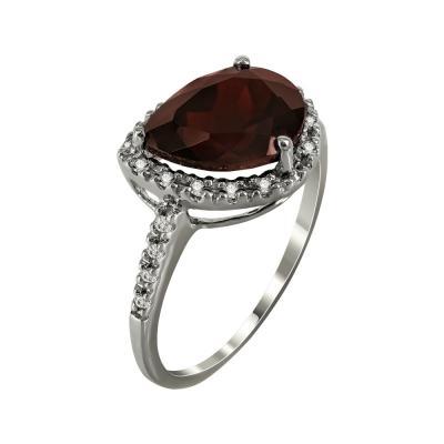 Μονόπετρο Δαχτυλίδι Με Γρανάδα Και Διαμάντια Brilliant Κ18 DX25050