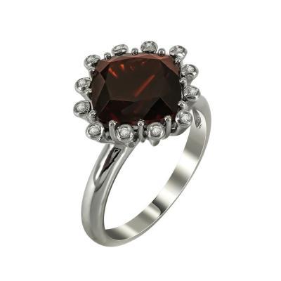 Μονόπετρο Δαχτυλίδι Με Γρανάδα Και Διαμάντια Brilliant Κ18 DX25073