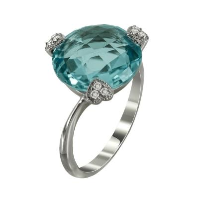 Μονόπετρο Δαχτυλίδι Mε Τουρμαλίνη Και Διαμάντια Brilliant Κ18 DX35040