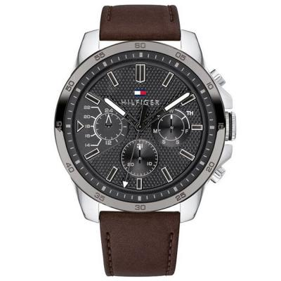 Tommy HILFIGER Decker Brown Leather Strap 1791562