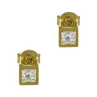 Κίτρινα Χρυσά Σκουλαρίκια K14 SK97854