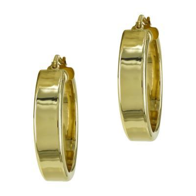 Κίτρινα Χρυσά Σκουλαρίκια Κρίκοι K14 SK817