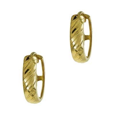 Κίτρινα Χρυσά Σκουλαρίκια Κρικάκια K14 SK97860