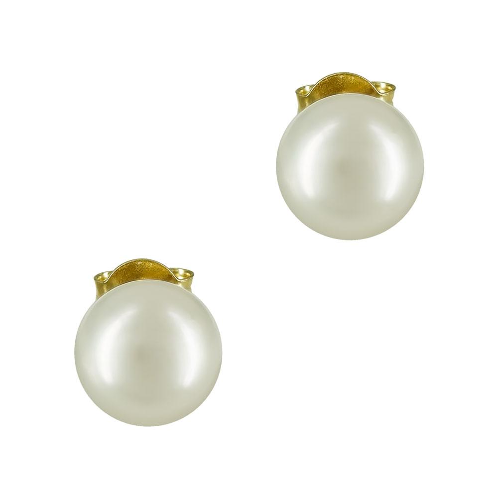 Κίτρινα Χρυσά Σκουλαρίκια Με Φυσικά Μαργαριτάρια K14 SK82900