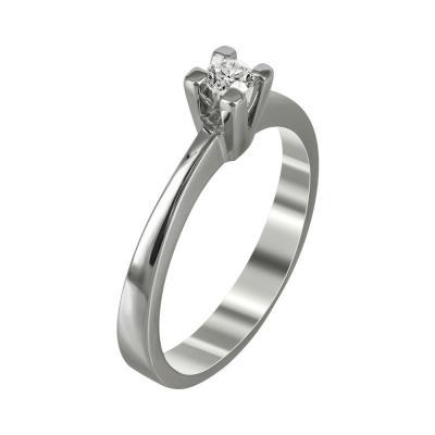 Μονόπετρο Δαχτυλίδι Με Διαμάντια Brilliant Κ18 D98669