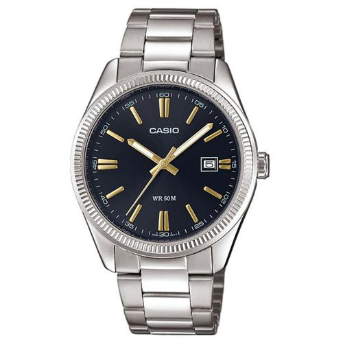 CASIO Collection Stainless Steel Bracelet Black Dial MTP-1302PD-1A2VEF