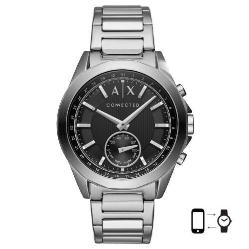 ARMANI EXCHANGE Hybrid Smartwatch Stainless Steel Bracelet AXT1006
