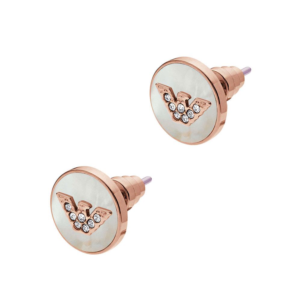EMPORIO ARMANI Γυναικεία Σκουλαρίκια Από Ροζ Επιχρυσωμένο Ατσάλι EGS2311221