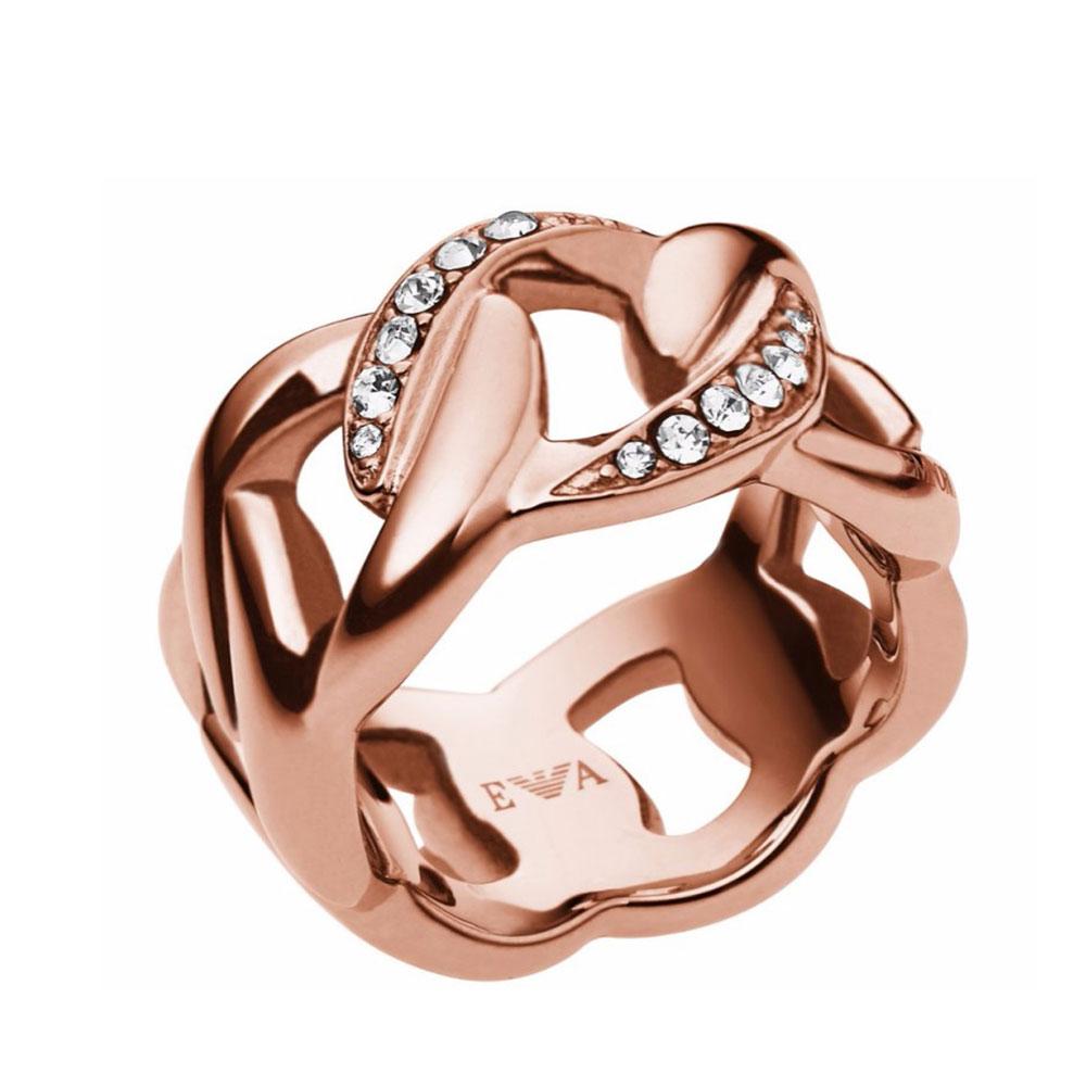 EMPORIO ARMANI Γυναικείο Δαχτυλίδι Από Ροζ Επιχρυσωμένο Ατσάλι EGS1990221