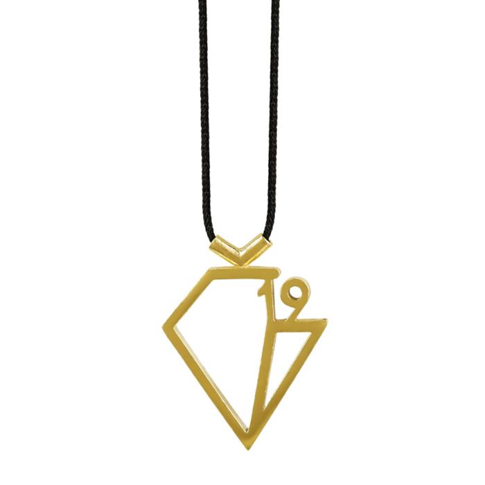 Γούρι Lucky Diamond 2019 by KIRIAKOS GOFAS Από Επιχρυσωμένο Ασήμι 925 GR321
