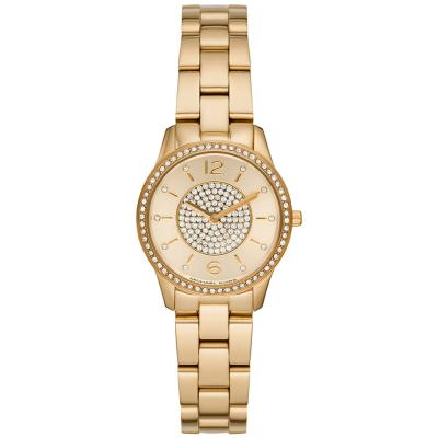 MICHAEL KORS Runway Crystals Gold Stainless Steel Bracelet MK6618