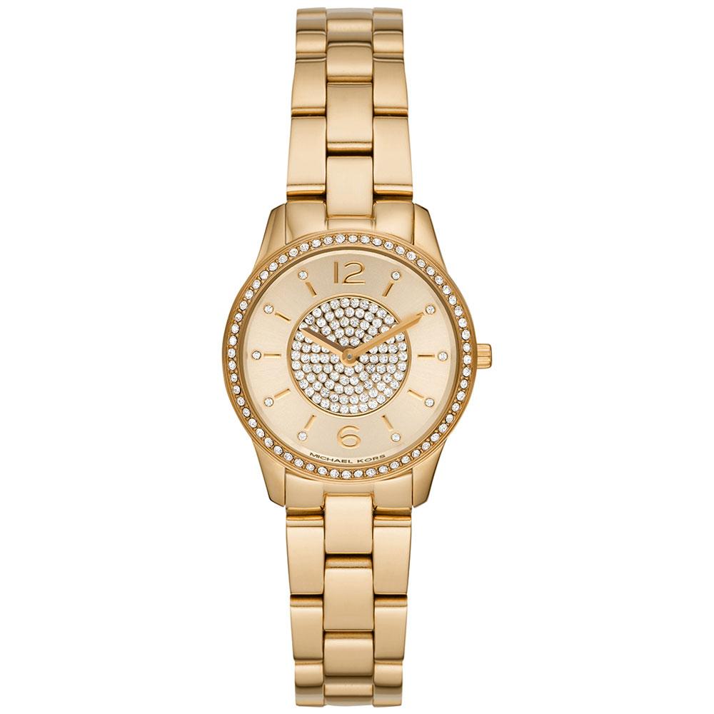 MICHAEL KORS Runway Crystals Gold Stainless Steel Bracelet MK6618
