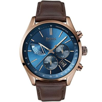 HUGO BOSS Grand Prix Brown Leather Strap 1513604