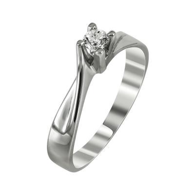 Μονόπετρο Δαχτυλίδι Με Διαμάντια Brilliant Κ18 D95454