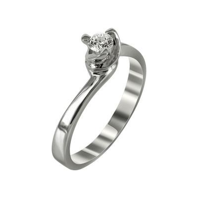 Μονόπετρο Δαχτυλίδι Με Διαμάντια Brilliant Κ18 D99351