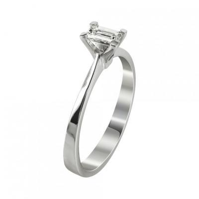 Μονόπετρο Δαχτυλίδι Με Διαμάντια Brilliant Κ18 DDX234