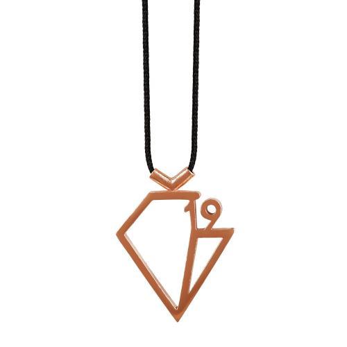 Γούρι Lucky Diamond 2019 by KIRIAKOS GOFAS Από Ροζ Επιχρυσωμένο Ασήμι 925 GR322