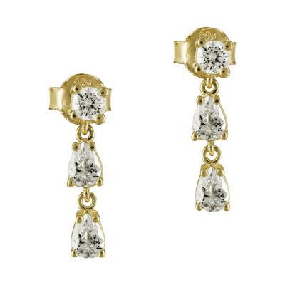 Σκουλαρίκια Με Πέτρες Από Κίτρινο Χρυσό K14 SK798