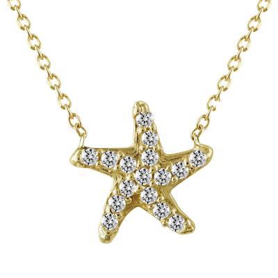 Κολιέ Αστερίας Από Κίτρινο Χρυσό Κ14 ΚL680