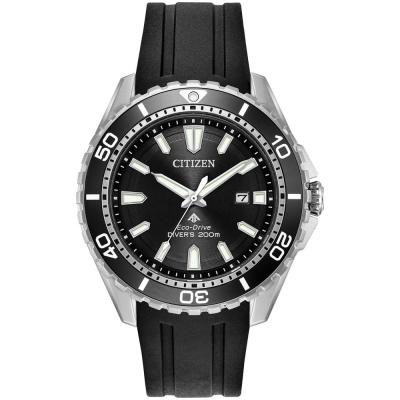 CITIZEN Eco-Drive Promaster Black Rubber Strap BN0190-15E