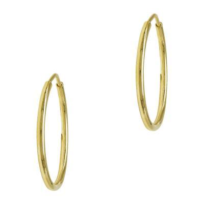 Σκουλαρίκια Κρίκοι Από Κίτρινο Χρυσό Κ14 SK763