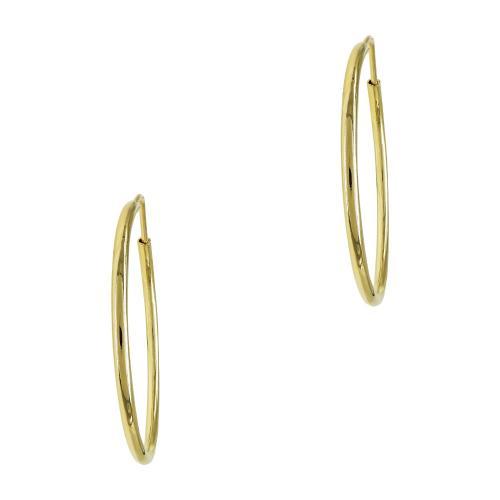 Σκουλαρίκια Κρίκοι Από Κίτρινο Χρυσό Κ14 SK761