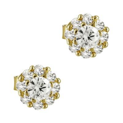 Σκουλαρίκια Με Πέτρες Από Κίτρινο Χρυσό Κ14 SK764