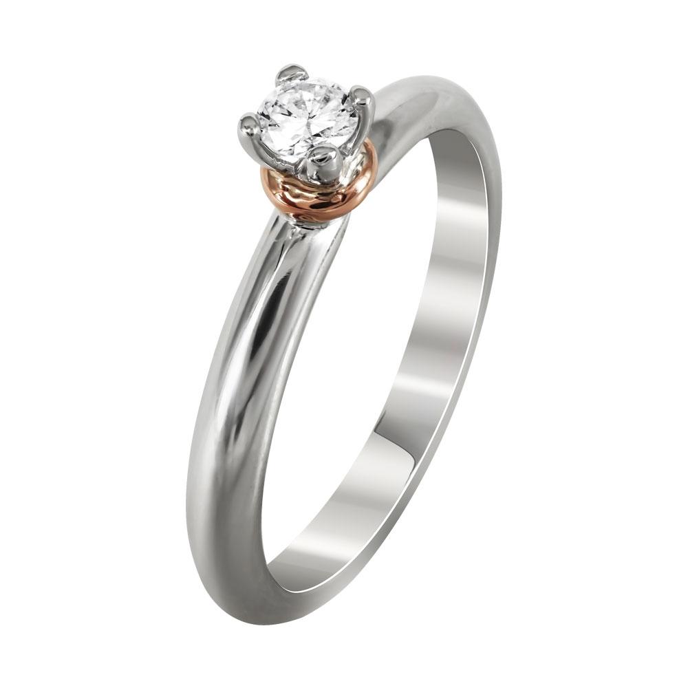 Μονόπετρο Δαχτυλίδι Με Διαμάντια Brilliant Από Λευκόχρυσο Κ18 DDX235