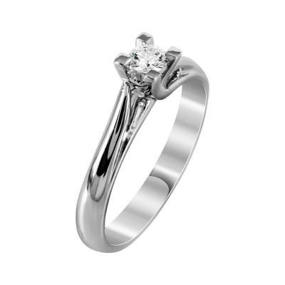 Μονόπετρο Δαχτυλίδι Με Διαμάντια Brilliant Από Λευκόχρυσο Κ18 DDX236