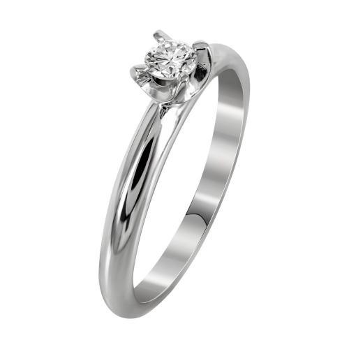 Μονόπετρο Δαχτυλίδι Με Διαμάντια Brilliant Από Λευκόχρυσο Κ18 DDX240