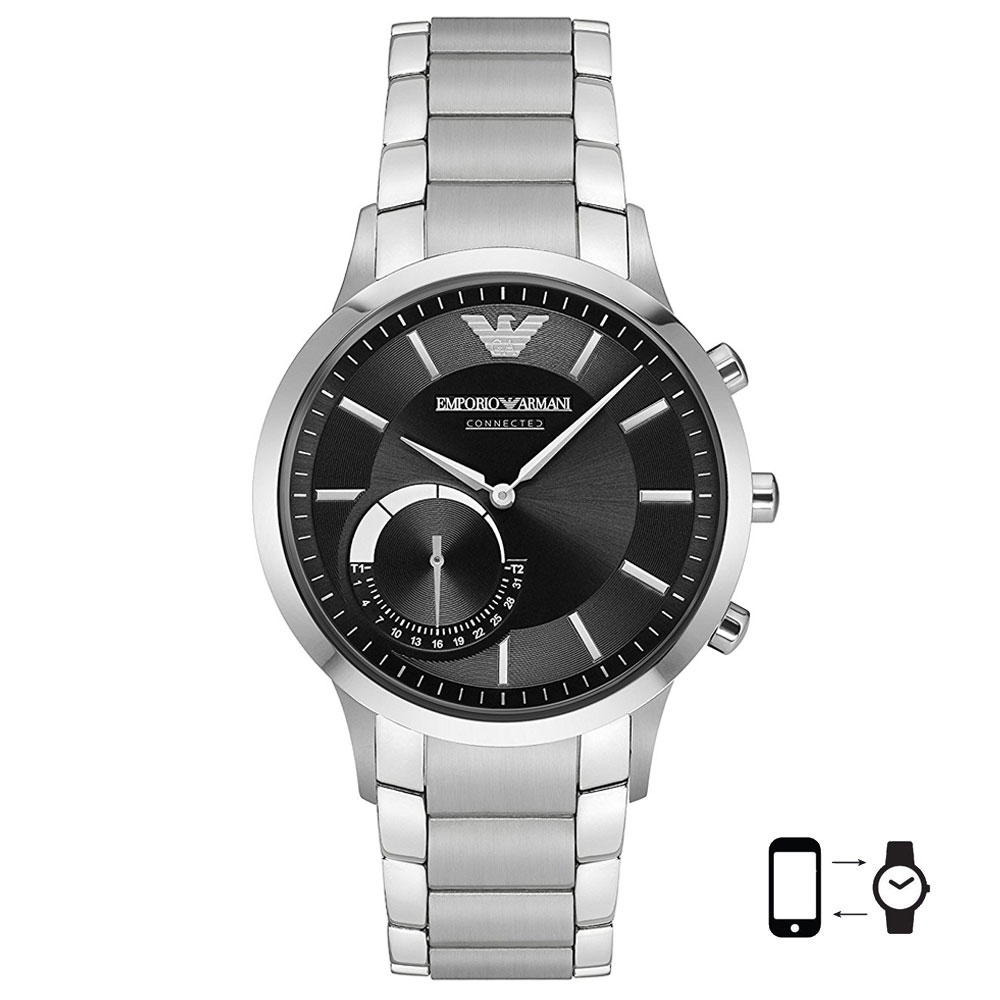 EMPORIO ARMANI Connected Hybrid Silver Stainless Steel Bracelet ART3000