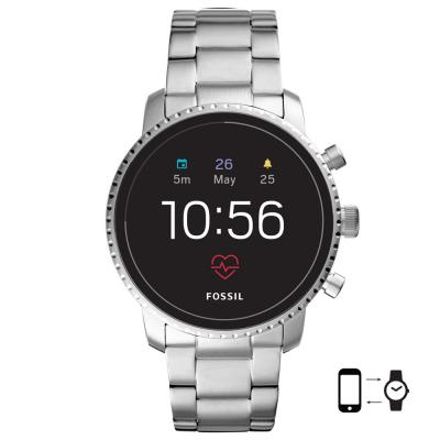FOSSIL Q Explorist HR Smartwatch Stainless Steel Bracelet FTW4011