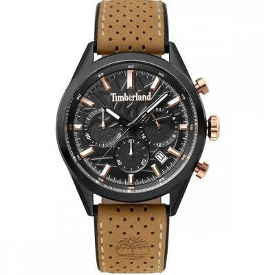 727333d54380 TIMBERLAND Randolph Chronograph Brown Leather Strap 15476JSB-02
