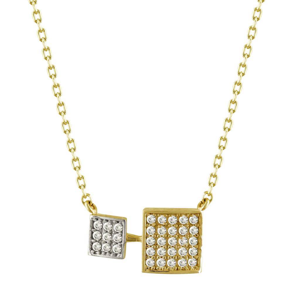 Μενταγιόν Με Πέτρες Από Κίτρινο Χρυσό Κ14 M94099