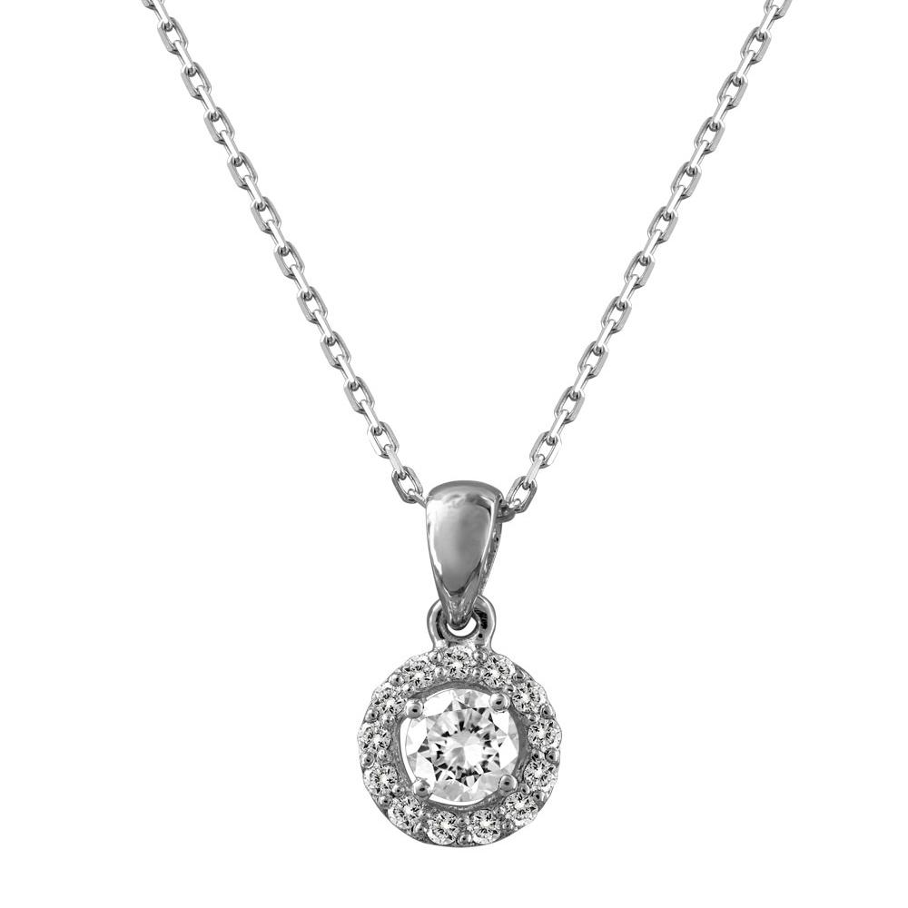 Μενταγιόν Mε Διαμάντια Brilliant Από Λευκόχρυσο Κ18 P6919