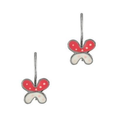 Παιδικά Σκουλαρίκια Με Πεταλούδα Από Ασήμι PSK366