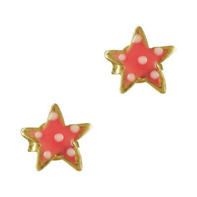 Παιδικά Σκουλαρίκια Με Αστεράκι Από Επιχρυσωμένο Ασήμι PSK370