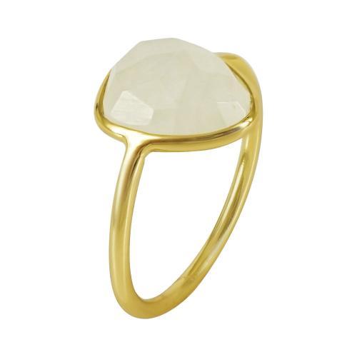 Επιχρυσωμένο Δαχτυλίδι Με Πολύχρωμες Πέτρες Από Ασήμι DX674