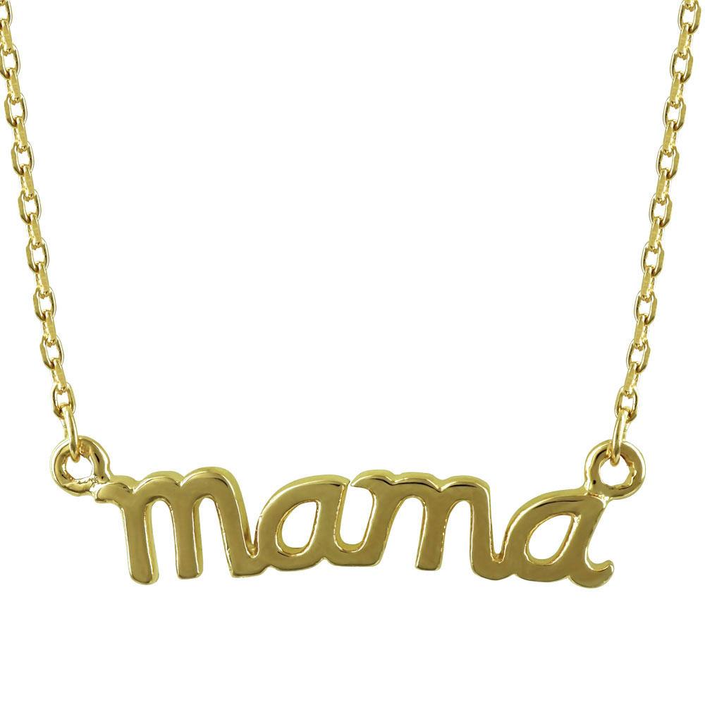Επιχρυσωμένο Μενταγιόν mama Από Ασήμι M413