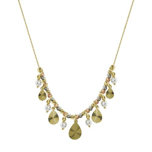 Κολιέ Με Πέτρες Από Κίτρινο Χρυσό Κ14 KL97705