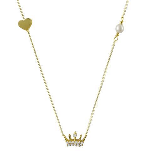 Κολιέ Με Πεταλουδίτσα Από Κίτρινο Χρυσό Κ14 KL83446